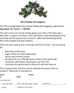 holiday extravaganza flyer